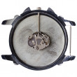 Quartz watch movement in old grungy clock — Stock Photo #68832649