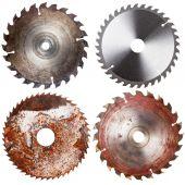 Set of circular saw blades  — Stock Photo
