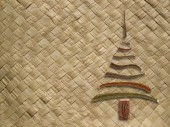Woven pattern with christmas tree — Foto Stock
