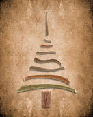 Absract background with wooden christmas tree — Foto Stock