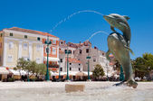 Dolphins fountain at Mali Losinj — Foto de Stock