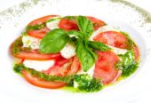 Caprese salad on the plate — Stock Photo
