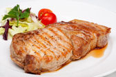 Great beef steak with vegetables — Stock Photo