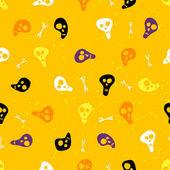 ハロウィーン頭蓋骨と骨とのシームレスなパターン. — ストックベクタ