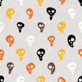 Halloween vector print with skulls funny skulls. — Stock vektor
