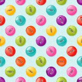 Seamless pattern with cute colorful buttons. Vector background. — Stock Vector