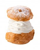 Deluxe Cream Puff isolated — Stock Photo