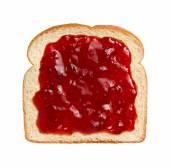 Strawberry Preserves on Bread — Stock Photo
