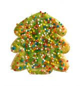 Green Christmas Tree Cookie — Stock Photo