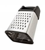 Tilted Stainless Steel Box Grater — Stock Photo