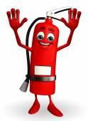 Fire Extinguisher character with happy pose — Foto Stock