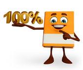Książki znak znak procentu — Zdjęcie stockowe