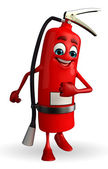Fire Extinguisher character is walking — Foto Stock