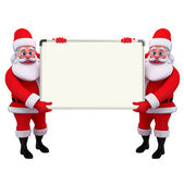 Santa Claus With display board — Zdjęcie stockowe