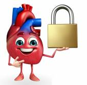 Heart character with lock  — Foto Stock