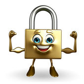 Lock Character with bodybuilding pose — Photo