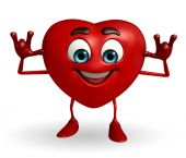 Heart Shape character with teasing pose — Stock Photo