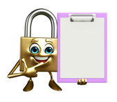 Lock Character with notepad — Photo