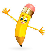 Pencil Character is happy pose — Stock Photo