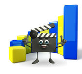 Clapper Board with business graph — Stock Photo