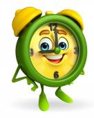 Table clock character with thumbs up — Foto Stock