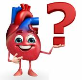 Heart character with question mark  — Stock Photo