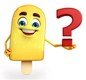 Candy Character With question mark — Stock Photo