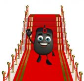 Computer Mouse Character on the red carpet — Stok fotoğraf