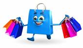 Shopping bag character — Foto de Stock