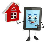 Tab Character with home — Stock Photo