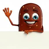 Candy Character With sign — Stock Photo