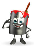 Paint Bucket Character is Salute pose — Foto Stock