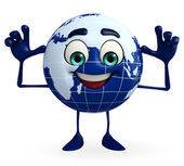 Earth Character is teasing pose — Stock Photo