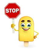 Candy charakter s stopku — Stock fotografie