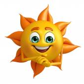 Sun Character with promise pose  — Stock Photo