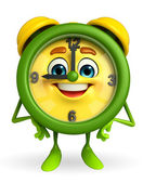 Table clock character is standing — Foto Stock