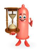 персонаж презервативов с песочные часы — Стоковое фото