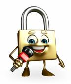 Lock Character with mike — Photo