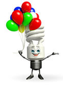CFL Character with Balloon — Stock Photo