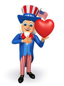 Uncle Sam with heart  — Stock Photo