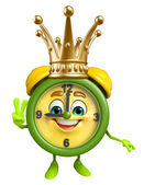 Table clock character with crown — Foto de Stock