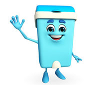 Dustbin Character with happy pose — Stock Photo
