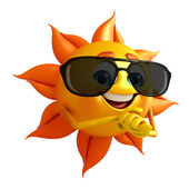 Sun Character With Sun glasses — Stock fotografie