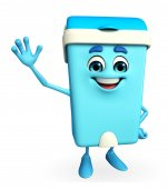 Dustbin Character with happy pose — Stok fotoğraf