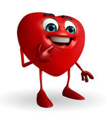 Heart Shape character with shy pose — Stock Photo