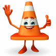 Construction Cone Character with best sign — Stock Photo #55471907