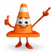 Construction Cone Character with best sign — Stock Photo #55478741