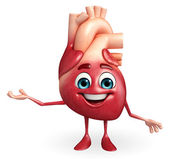 Heart character with presenting pose — Stock Photo