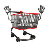 The trolly charecter with hello pose — Stock Photo