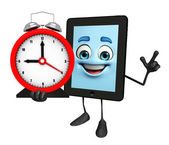 Tab Character with table clock — Stockfoto